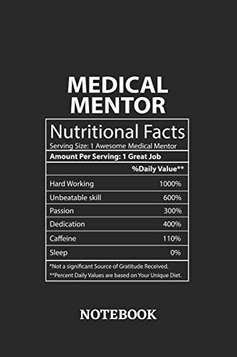 Nutritional Facts Medical Mentor Awesome Notebook: 6x9 inches - 110 blank numbered pages • Greatest Passionate working Job Journal • Gift, Present Idea