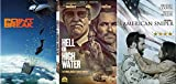 Ex-Convict Crimals & Hell Or High Water + Point Break Action & American Sniper Mission Bundle 3-DVD Set