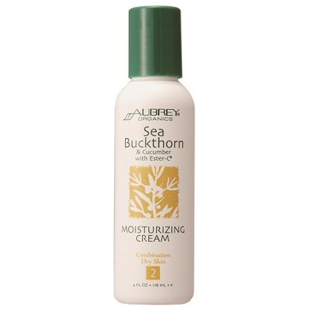 航海の提唱する人気のAubrey Organics Sea Buckthorn & Cucumber with Ester-C Moisturizing Cream, 4-Ounce Bottle