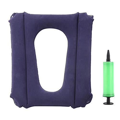 Aufblasbare Kissen, Aufblasbares Sitzkisse älteres Kissen Aufblasbares Sitzkissen mit Hüftstütze für ältere Menschen für Hämorrhoiden, Steibbeinschmerzen, Rollstühle, Schwangere
