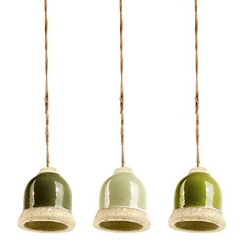 Esschert Design Vert Ton / Chanvre Corde, 10 x 10 X 10.8 cm, Oiseau Mangeoire Bell