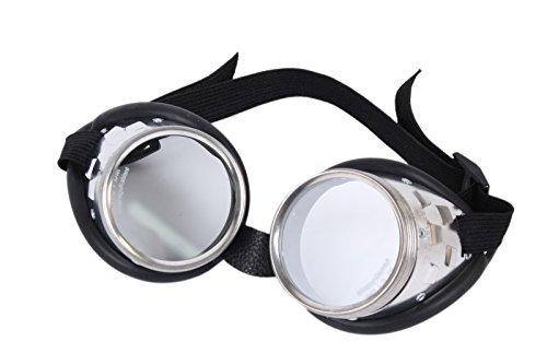 WELDINGER Schraubringbrille/Korbbrille mit klaren Gläsern VSG Sicherheitsglas splitterfrei