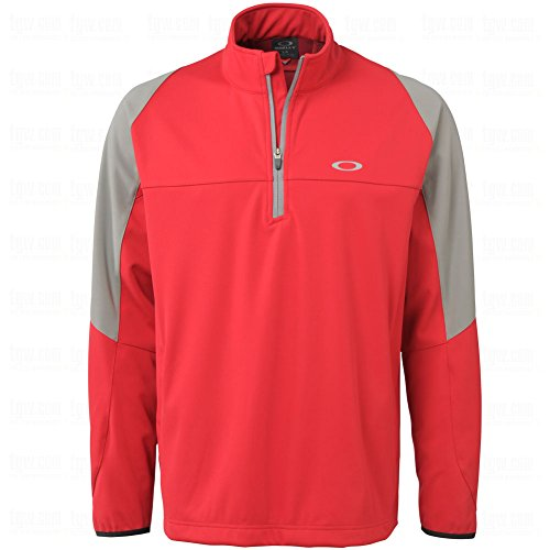 Price comparison product image Oakley Oberlin Windproof 1 / 4 Zip Mens Golf Jacket Jester Red Small