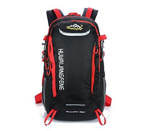 Léger 40L Camping sac à dos Outdoor Sports imperméable à l'eau grande capacité portable Oxford sac à dos alpinisme randonnée voyages équitation multifonction Pack H50 x L32 x T22 cm , black
