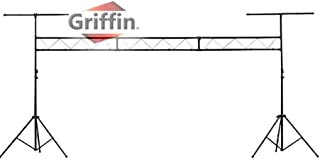 DJ Light Truss Stand System by Griffin I-Beam Trussing Equipment Set Hanging Mount Lighting Package for Music Gear, PA Speakers, Can Lights T-Bar and Extra Truss Extension for Audio Stage Performance