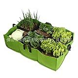 ALXFFBN Cama elevada de tela, contenedor rectangular de 42 galones y 6 agujeros para plantación rectangular, bolsas de jardín rectangulares resistentes para vegetales de jardín, 35.07 x 23.46 pulgadas