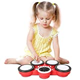 TWFRIC Kids Drum Set Electronic Hand Drum Set Musical Drum Kit for Kids Education Learning Toys Gift for 3-5 Years Old Boys Girls Children