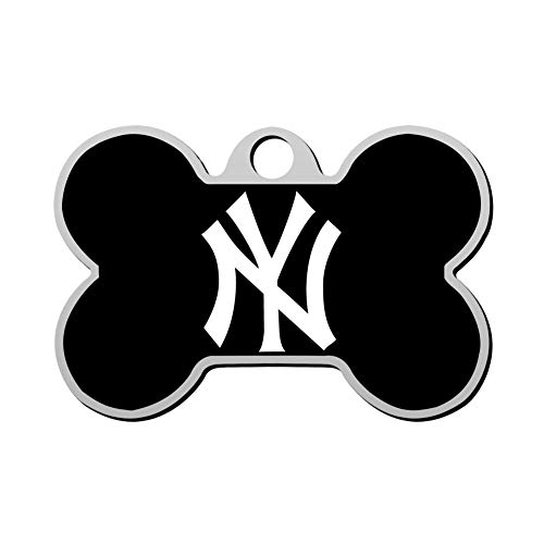 GPZHM Customized New-York-Yankees Logo Pet Tag - Bone Shaped Dog Tag & Cat Tags Pet ID Tag Personalized Custom Your Pet's Name & Number 3D Printing