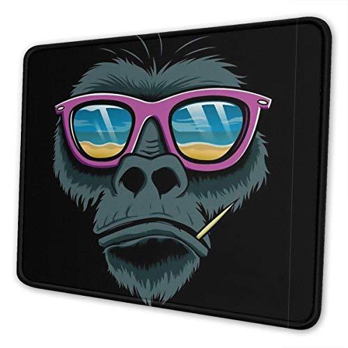 Mauspad angepasste coole Gorilla Sonnenbrille rutschfeste Gummi Mauspad Gaming Mauspad für Computer Laptop PC Büro