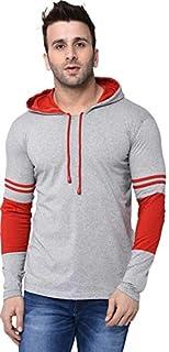 Aarcadian Men's Regular Fit Designer Hood Full T-Shirt