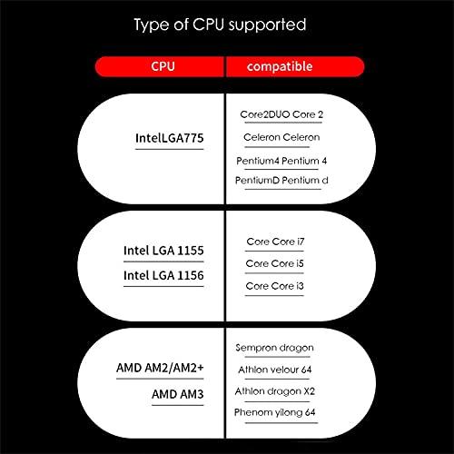 CPUクーラー超静音CPUファン775AMDIntel1151