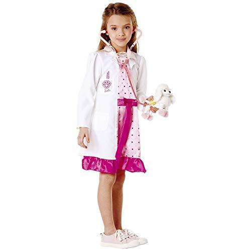 P.D. Disfraz de carnaval compatible con Barbie VETERINaria Doctora Talla 7 8 9 aos (3  4 aos: altura nia/o 132 cm)