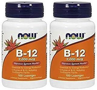 2本 ビタミンB12 2000mcg トローチ 100 lzngs ナウフーズ Now Foods [並行輸入品]