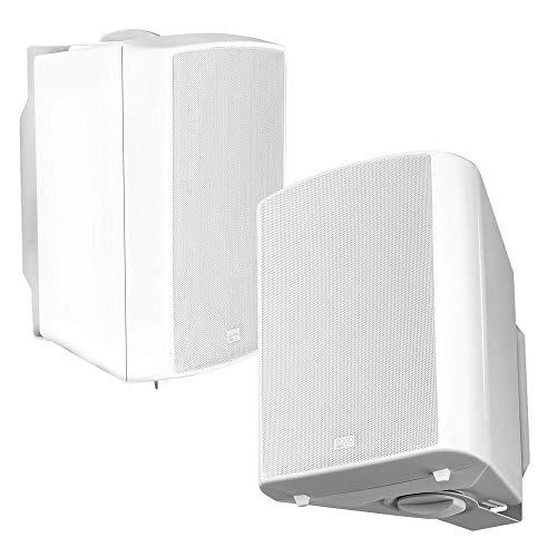 "OSD Audio Outdoor Patio Speaker 8"" Pro Stereo Pair White AP840"