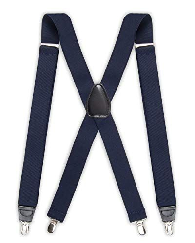 Dockers Men's Solid Suspender, Navy, One Size