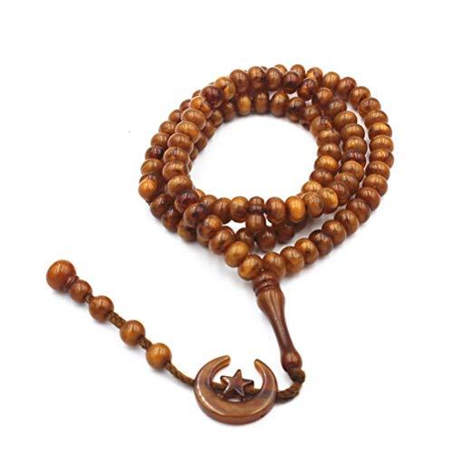 BBABBT Resina 99 Cuentas Eid Mubarak Cuentas de oración Cuentas de oración Musulmanas Rosario islámico Colgante Collares Pulseras árabes