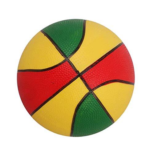 siqiwl Baloncesto 9 '' Niños Juguete Regalo Mini Baloncesto Mascota Perro Juguete Ball-Verde y Amarillo y Rojo