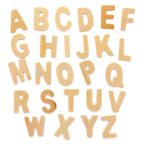 Baker Ross AX324 Großbuchstaben aus Holz - 130 Stück, Kreative Künstler- und Bastelbedarf zum Basteln und Dekorieren zur Winterzeit