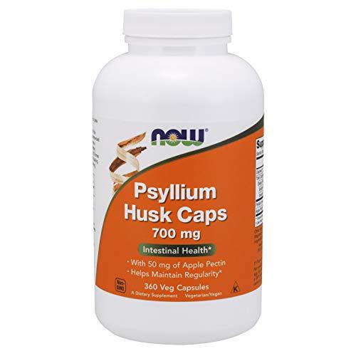 NOW Supplements, Psyllium Husk Caps 700 mg with 50 mg of Apple Pectin, Intestinal Health*, 360 Veg Capsules