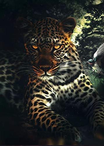 JHGJHK Arte Animal Jaguar Tigre Pintura Mural Pintura al óleo Sala de Estar hogar Moderno decoración de Pared Pintura 10