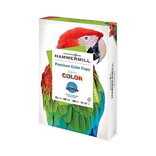 Hammermill Printer Paper, Premium Color 28 lb Copy Paper, 11 x 17 - 1 Ream (500 Sheets) - 100 Bright, Made in the USA, 102541