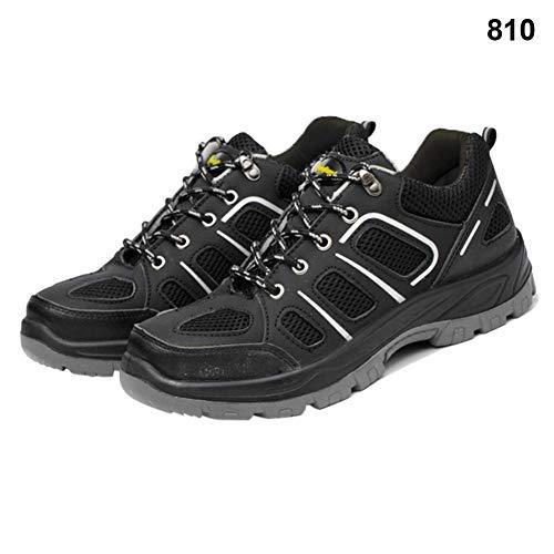 Acreny 1 Par Resistente Zapatillas Zapatos de Seguridad Trabajo Transpirable Resistente a los Pinchazos Portátil para Hombre - 810, 40