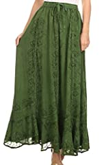 One Size: [(Fits Approximate US Skirt Size 0-22W, UK 6-24, EU 34-52), Max waist: 45 inches (114.3cm), Length: 38.5 inches (98cm)]. Approximate Length = 38.5 inches ( 98 cm ) This skirt has an elastic adjustable waist, with adjustable drawstrings. The...