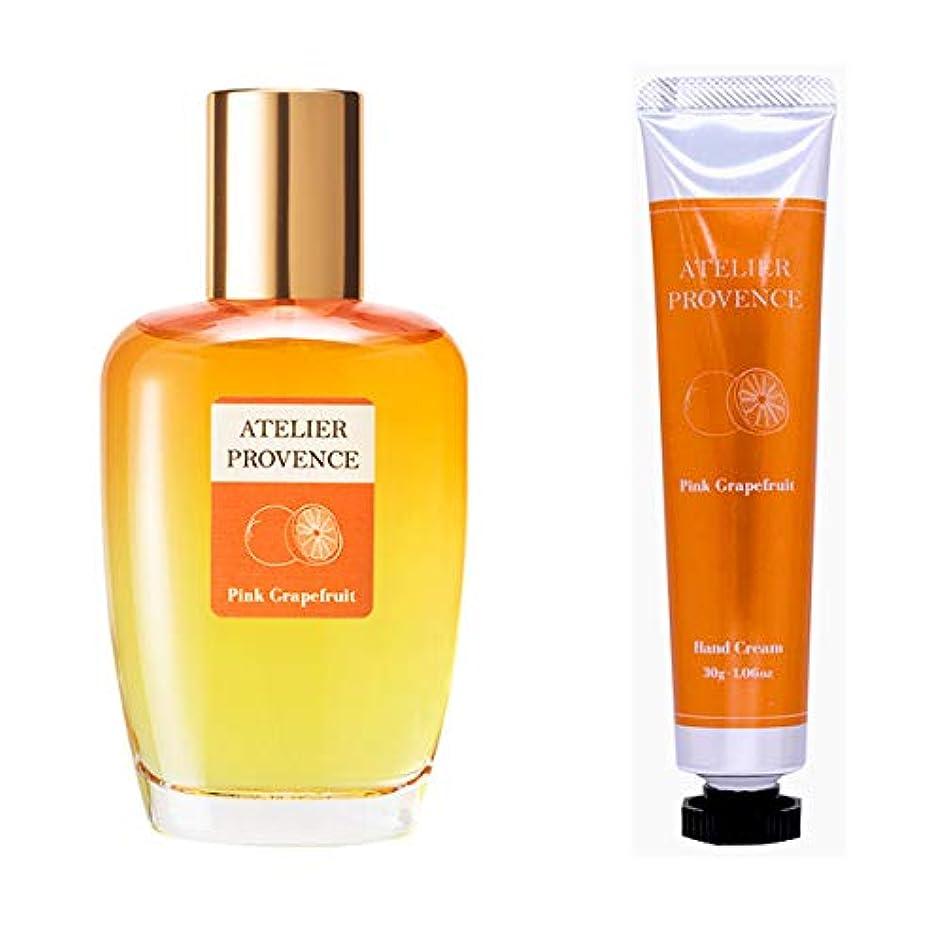 ほこりっぽい白内障ダイヤルアトリエ プロヴァンス ATELIER PROVENCE ピンクグレープフルーツの香り コフレセット(EDT90ml+ハンドクリーム30g)