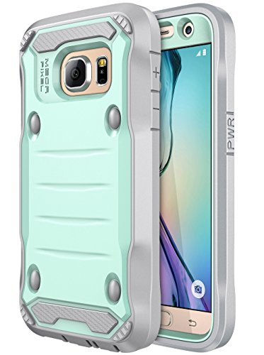 E LV Case for Galaxy S7 Case Hybrid Armor Protection Defender Case Cover with Built-in Screen Protector for Samsung Galaxy S7 - [Mint/Grey]