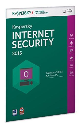 Kaspersky Internet Security 2016 - 3 PCs / 1 Jahr (Frustfreie Verpackung)