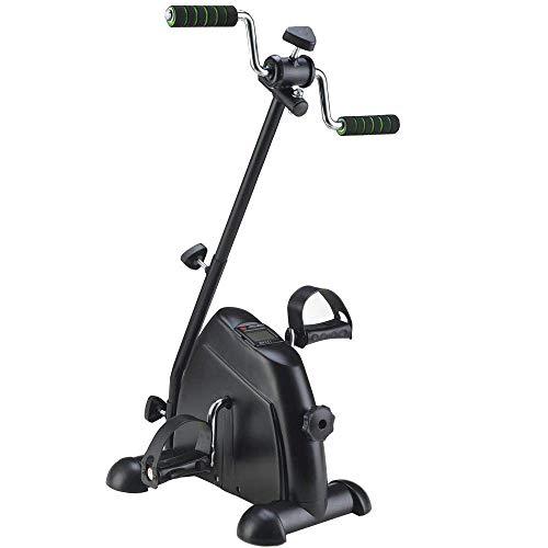 KILLM Fahrradpedal Trainer, Rehabilitation Pedal Exerciser Mit LCD-Monitor Für Behinderte Medical Hawkers, Rehabilitation Übung Für Strokes, Arme Und Knie Und Schlaganfall-Überlebende