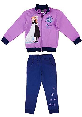 Disney Frozen Eiskönigin Mädchen Jogging-Freizeit-Sport WARM Baumwolle Reissverschlussjacke Freizeithose 104 110 116 122 128 134 Anna und ELSA Farbe Modell 3, Größe 134