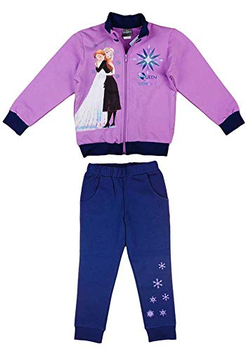 Disney Frozen Frozen - Chaqueta de algodn con cremallera y cremallera para nia, 104 110 116 122 128 134 Anna y Elsa Modelo 3 128