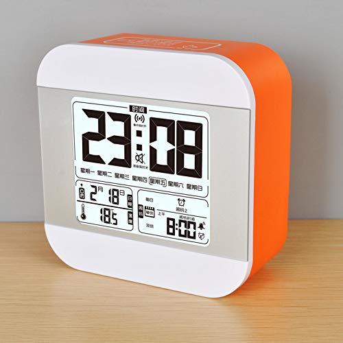 LHHLH Despertador Estudiante Moda Música Luminoso Mudo Cabecera Creativo Inteligente Simple Reloj Electrónico Multifunción Sonido Grande