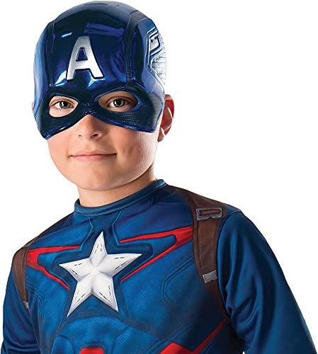 Rubie's 39217NS Marvel Avengers Capitan America Deluxe Maschera per bambini, accessorio per bambini, taglia unica