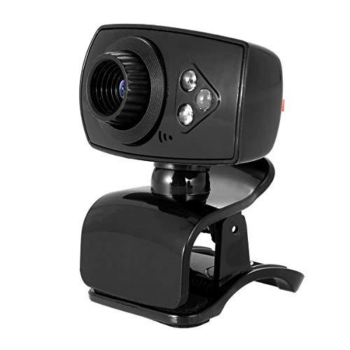 DELMO - Webcam para ordenador (con micrófono incorporado, 480P, USB, sin controlador)