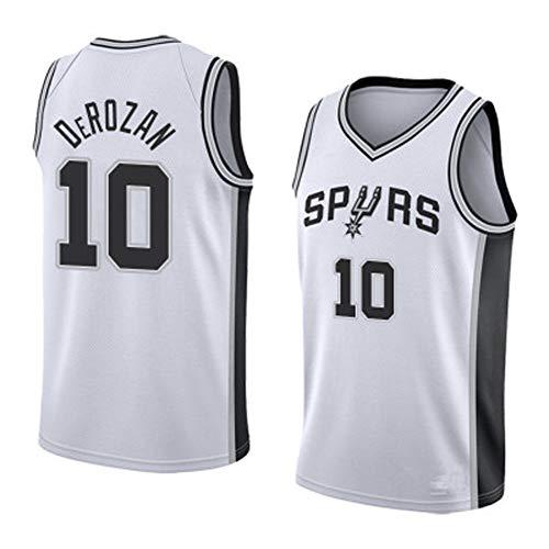 10# Spurs DeRozan Herren Basketball Trikots Westen Tops Sleevless T Shirts (S-XXL)-White-M