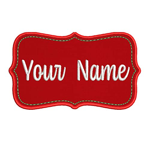 Custom Names Stocking Name Tag Embroidered DIY Iron on or Sew-on Decorative Patch Badge Emblem Appliques Christmas Holiday Tis The Season Series