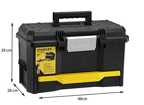 Stanley Werkzeugkiste leer aus Kunststoff 1-70-316 / Werkzeugkoffer mit integrierter Schublade für Kleinteile / Maße: 48.1 x 27.9 x 28.7 cm - 7
