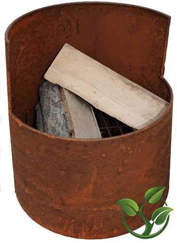 mgc24® Feuerschale für Garten und Terrasse »Demeter« | rund ca. 38x38x38cm | Stahl Rostoptik