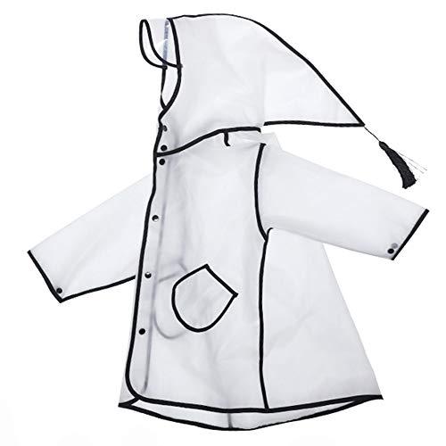 Enfants Rain Jacket - Raincoat Transparent Stylish Enfants avec Chapeau Astuce Conception Tassel Convient for Les garçons et Les Filles 80-145 Grand (Color : #01, Size : XXXXL)