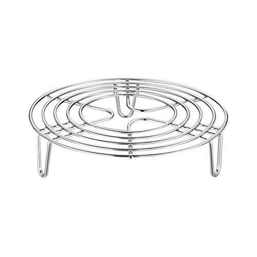 Rejilla para cocer al vapor, soporte circular para vaporizador de acero inoxidable, olla para hervir...