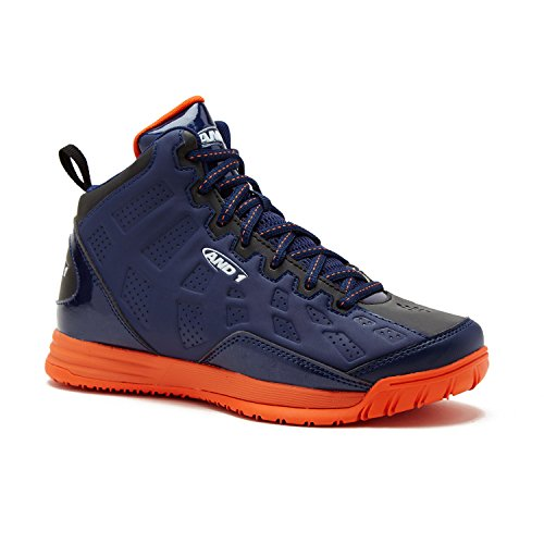 AND1 Kids Show Out Basketball Shoe, 6 M US Big Kid Navy/Blue/Orange