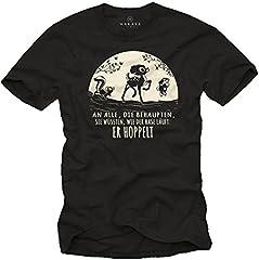 Camiseta Divertidas Hombre Manga Corta - Comic T-Shirt con Frases graciosas