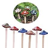 TIANLE Tillsle Fairy Garden Seta [4 Colores 6 Piezas] Ollas Decoración Adorno de cerámica para DIY Casa de muñecas Potting Cobertizo Flor Pool Plantas Estatua