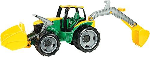 Lena 02080 Giga Trucks Traktor mit Frontlader und Baggerarm, Starke Riesen Trecker ca. 107 cm, Spielzeugtraktor mit realistischen Funktionen, großes Spielfahrzeug für Kinder ab 3 Jahre, grün