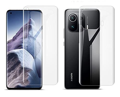 ONICOGEAR (Nicht Panzerglas) Kompatibel mit Xiaomi Mi 11 Pro Schutzfolie,TPU Full Screen Handy Bildschirm Folie für Xiaomi Mi 11 Pro(2 Vorne and 2 Rückseite)