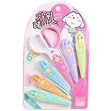 Spitze Schere kreative Schere für Kinder Student, DIY Werkzeug 6 Klingen mit verschiedenen Schnittmustern austauschbare Spitze Schere -
