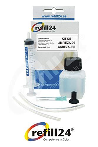 Limpieza de los Cabezales de impresión Kit de Impresora de inyección de Tinta 50 ml RSNROCKET Limpiador jeringa y la inyección de Fuelle Exclusiva destapa Las impresoras boquillas