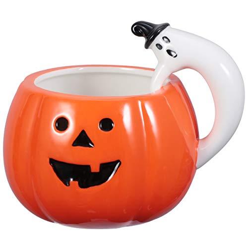 Cabilock Taza de cerámica creativa, estilo estilístico, para Halloween, calabaza, taza de café, taza de cerámica, para casa, café, oficina, bar, 1 unidad
